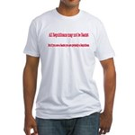 Republican Racist Fitted T-Shirt