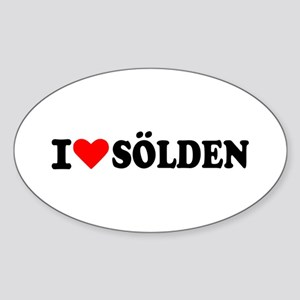 I love Sölden Oval Sticker