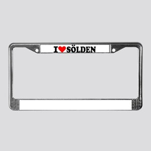 I love Sölden License Plate Frame