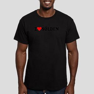 I love Sölden Men's Fitted T-Shirt (dark)