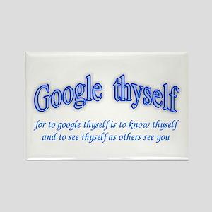 Google thyself Rectangle Magnet
