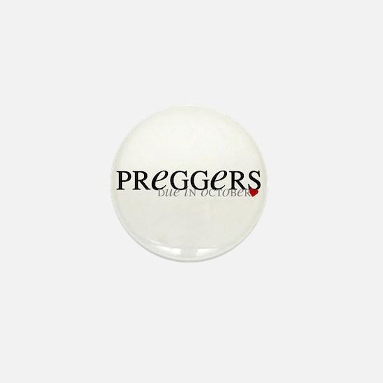Preggers - Oct Mini Button