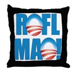 Obama ROFLMAO Throw Pillow