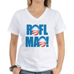 Obama ROFLMAO Women's V-Neck T-Shirt