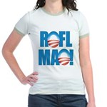 Obama ROFLMAO Jr. Ringer T-Shirt