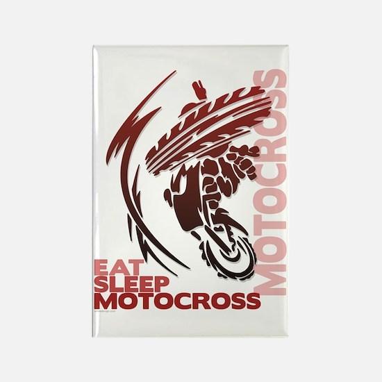 Eat Sleep Motocross Rectangle Magnet