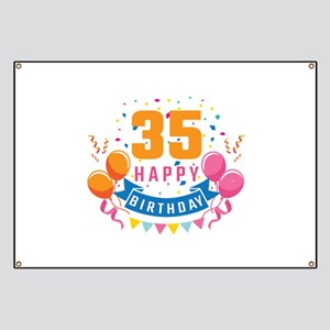 35th Birthday Balloon Banner Confetti Fun G