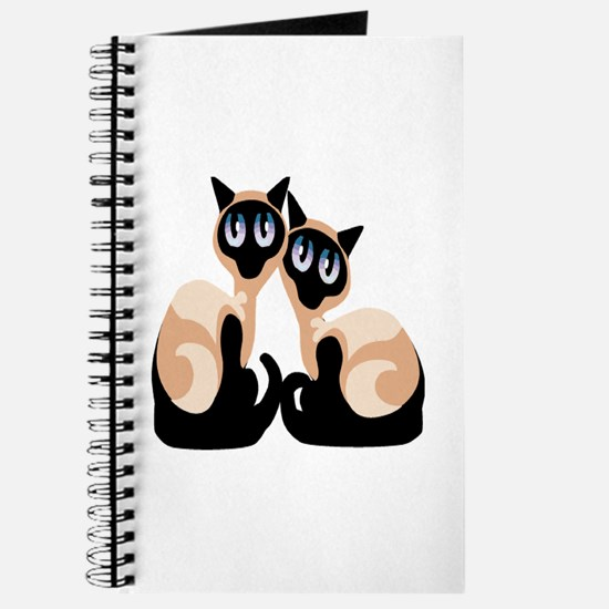 Twin Siamese Cat Journal