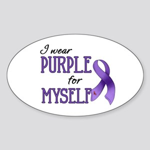 Wear Purple - Myself Oval Sticker
