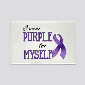 Wear Purple - Myself Rectangle Magnet