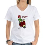 Motor Scooter Vino Women's V-Neck T-Shirt