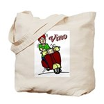 Motor Scooter Vino Tote Bag
