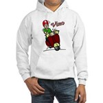 Motor Scooter Vino Hooded Sweatshirt