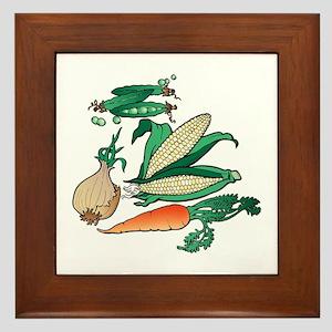 Nature Art Vegetable Design Framed Tile
