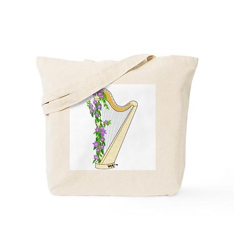 Harp and Flowering Vine Tote Bag
