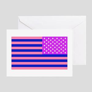 Bi American Flag Patch Greeting Card
