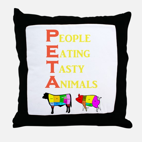 Cute Ethical treatment Throw Pillow