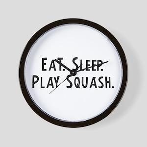 Eat, Sleep, Play Squash Wall Clock