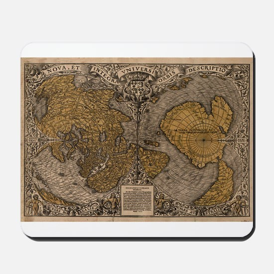 1531 World Map Mousepad