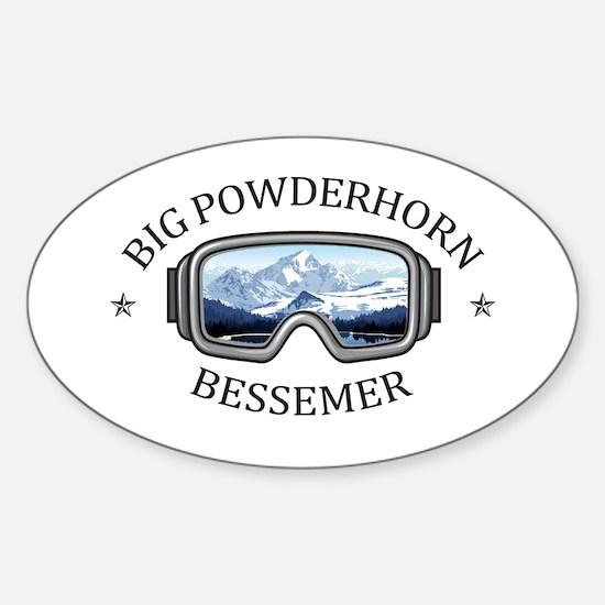 Big Powderhorn Ski Area - Bessemer - Mic Decal
