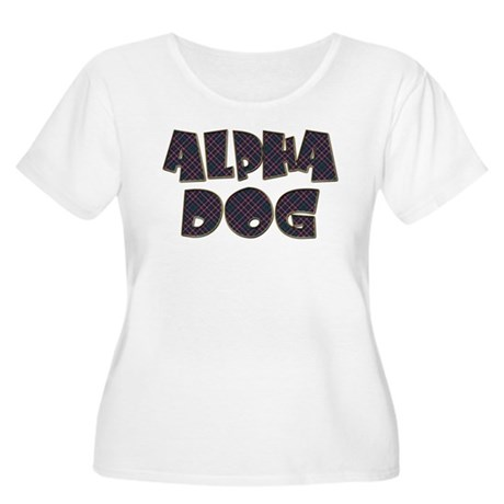 ALPHA DOG Women's Plus Size Scoop Neck T-Shirt