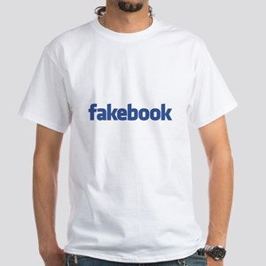 Fakebook White T-Shirt