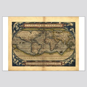 1570 World Map Large Poster