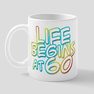 60th birthday life begins at 60 Mug