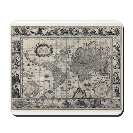 1606 World Map Mousepad