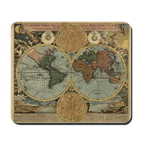 1716 World Map Mousepad