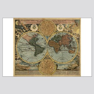 1716 World Map Large Poster