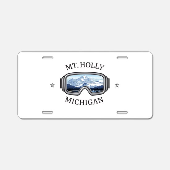 Mt. Holly Ski and Snowboard Aluminum License Plate
