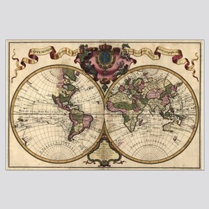 1720 World Map Large Poster