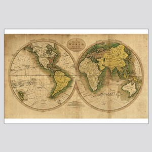 1795 World Map Large Poster