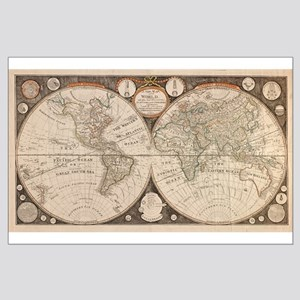 1799 World Map Large Poster