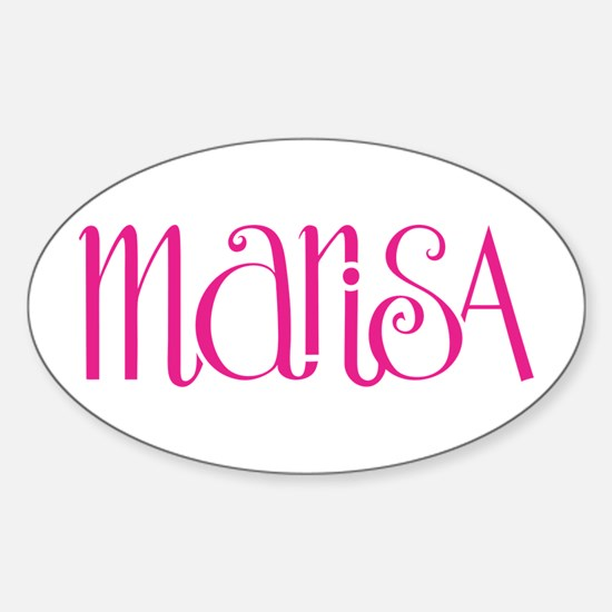 Marisa cherry pink Oval Decal