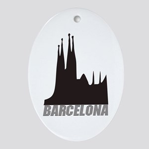 Barcelona Oval Ornament