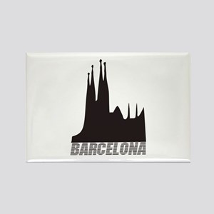 Barcelona Rectangle Magnet