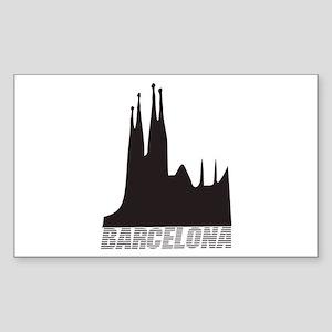 Barcelona Rectangle Sticker