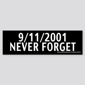 September 11th - Never Forget Bumper Sticker