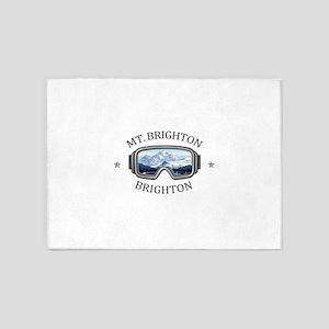 Mt. Brighton Ski Resort - Brighto 5'x7'Area Rug