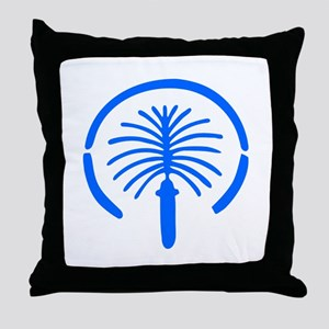 Palm Island - Dubai Throw Pillow