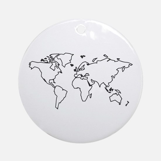 World map Ornament (Round)