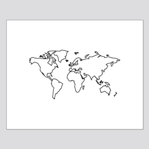 World map posters cafepress world map small poster gumiabroncs Gallery
