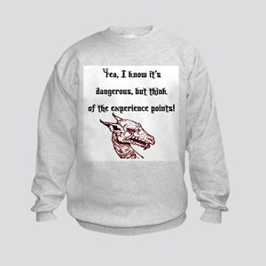 RPG Think of the experience points Kids Sweatshirt