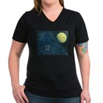 Guardian Lion Women's V-Neck Dark T-Shirt