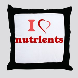 I Love Nutrients Throw Pillow