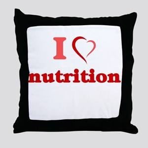 I Love Nutrition Throw Pillow