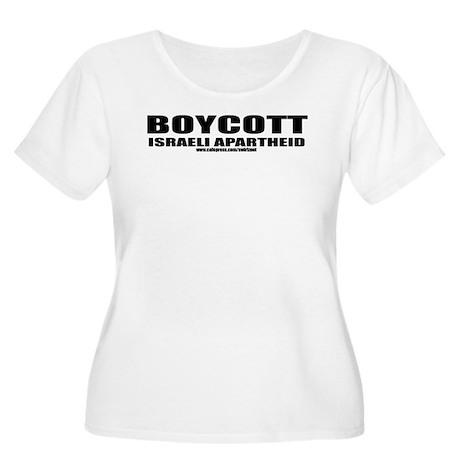 Boycott Apartheid Women's Plus Size Scoop Neck T-S