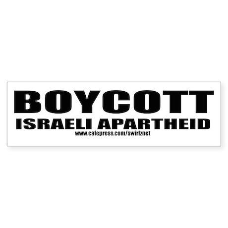 Boycott Apartheid Bumper Sticker
